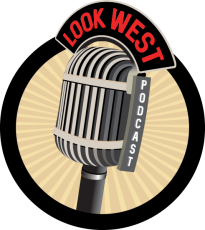 Look West Podcast Logo Graphic