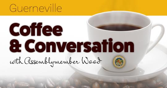 Coffee and Conversation with Assemblymember Jim Wood Graphic