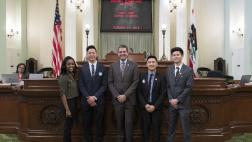 Assemblymember Wood with Loma Linda Dental Students on Assembly Floor