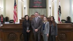 Assemblymember Wood with UCLA Dental Students on Assembly Floor