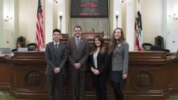 Assemblymember Wood with Western Dental Students on Assembly Floor