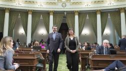 Assemblymember Wood Walks with Woman of the Year Natalie Arroyo
